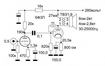 Ламповый усилитель для компьютера на 6Ф3П [Updated]