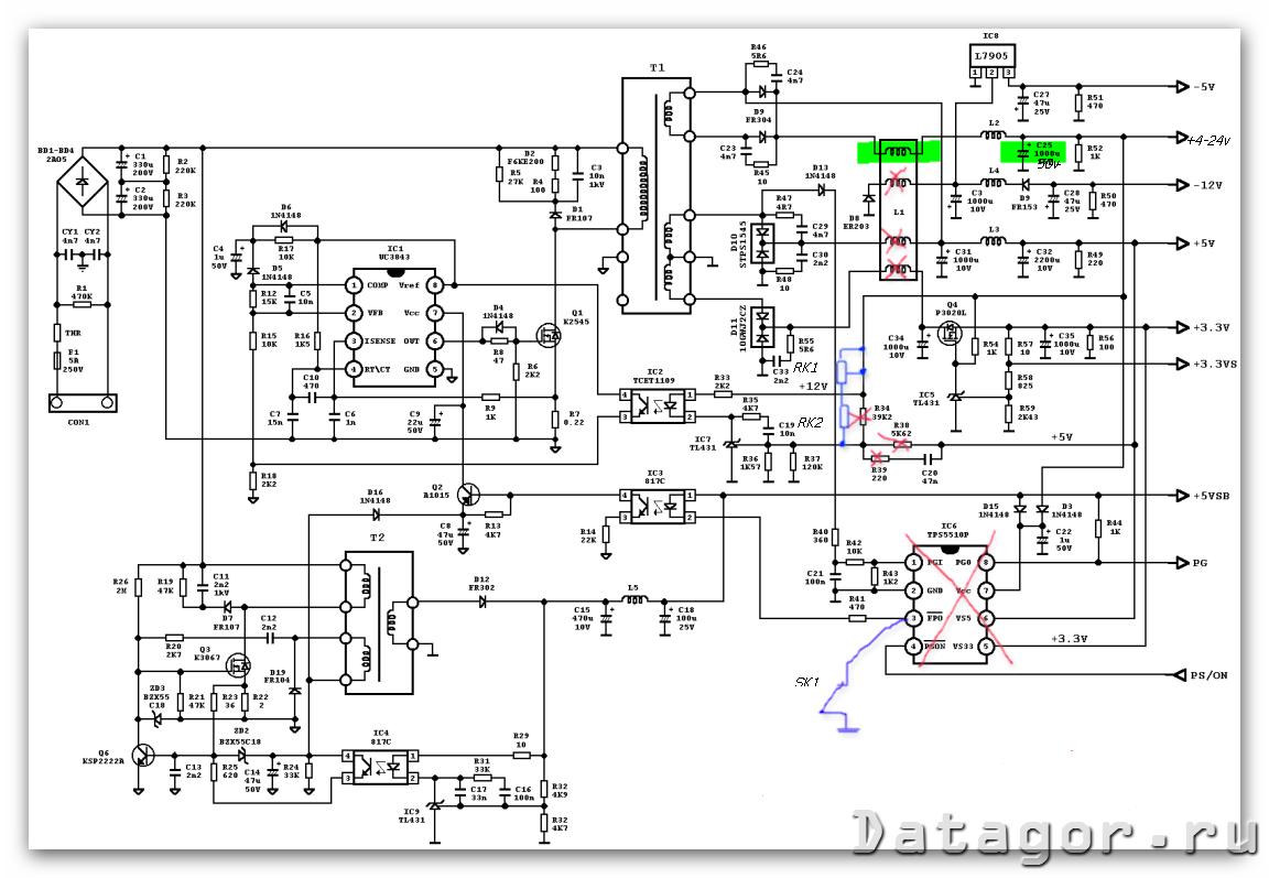 схема инвертора 12в на 220v 50hz на микросхеме tl494