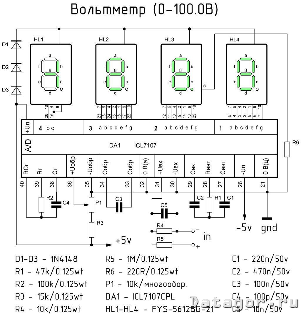 Icl7106cpl схема включения