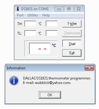 термостатов MAXIM/DALLAS