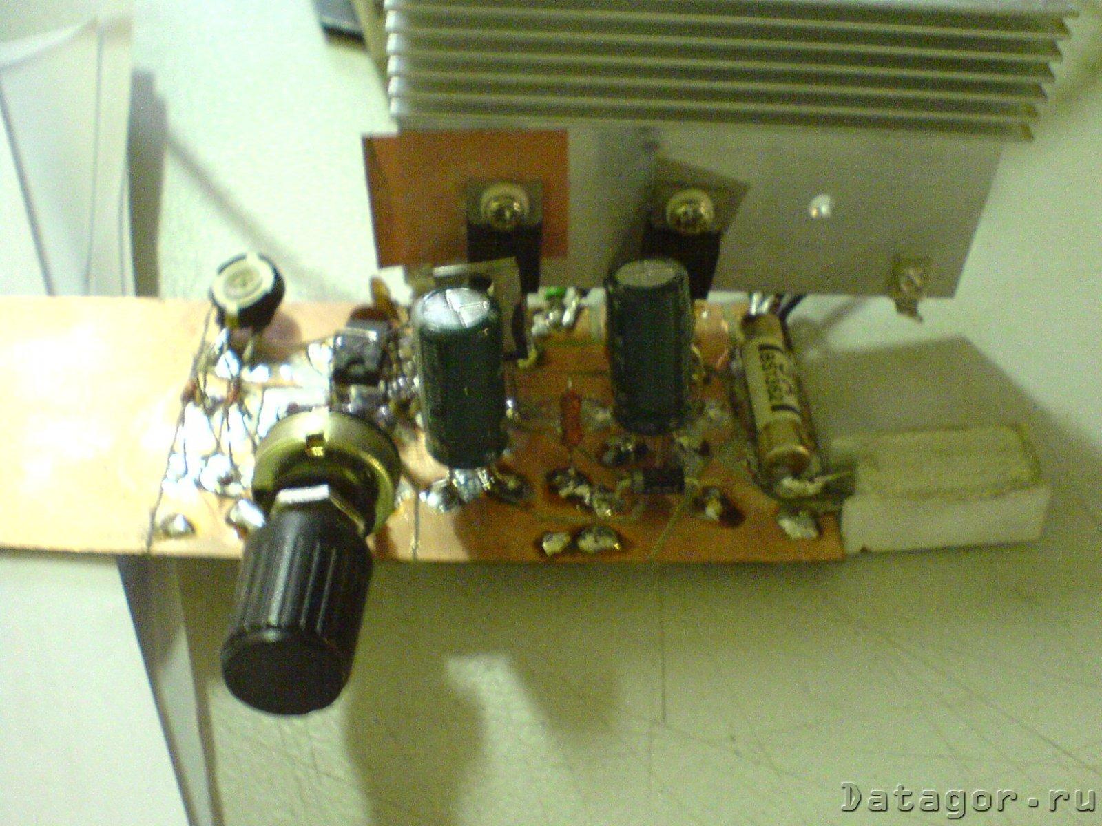 простой регулятор оборотов мотора 12,24в схема