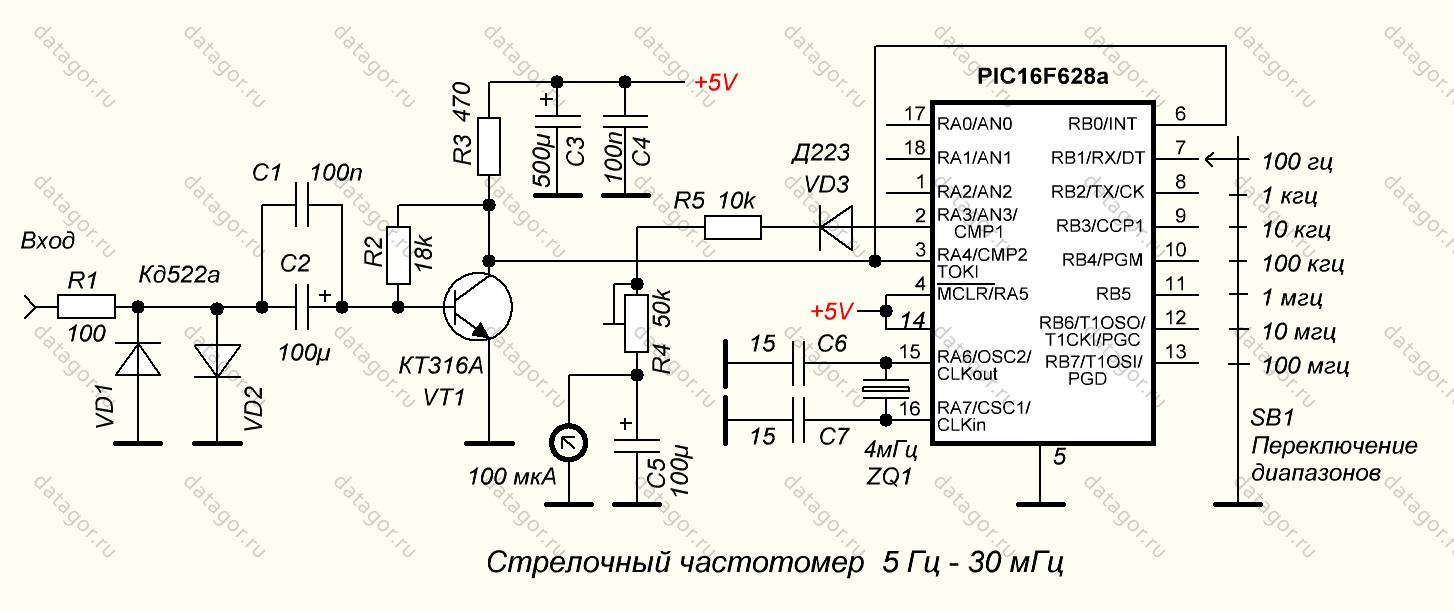 Частотомер на микроконтроллере своими руками 51
