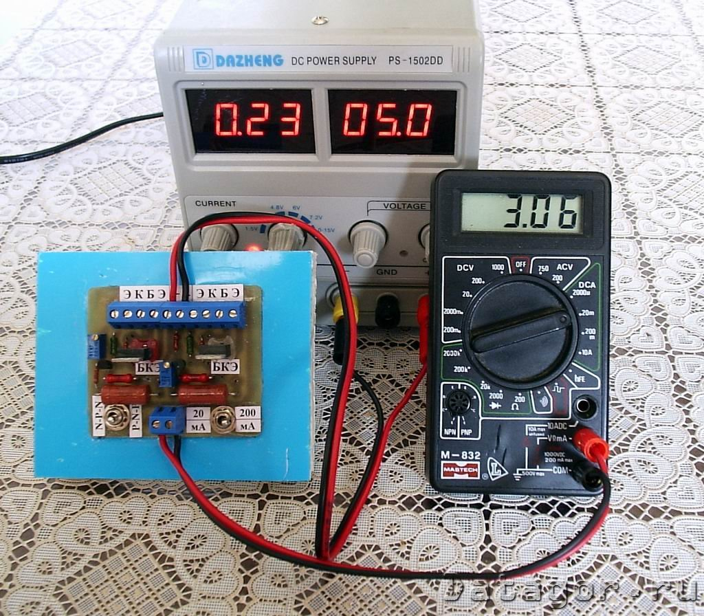 Прибор для проверки мощных транзисторов