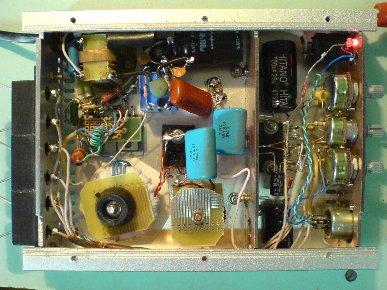 схема усилитель электроника т1-040