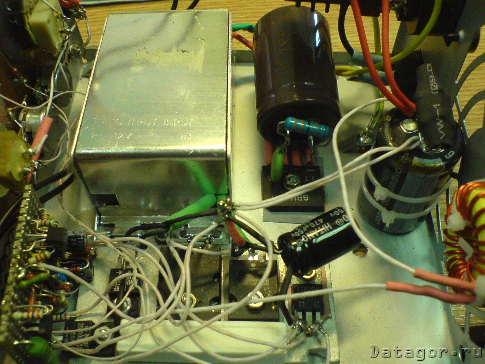 схема импульсного блока питания на транзисторах кт 812