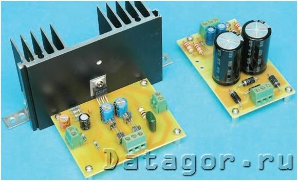 УНЧ с электронной регулировкой громкости на микросхеме TDA1074