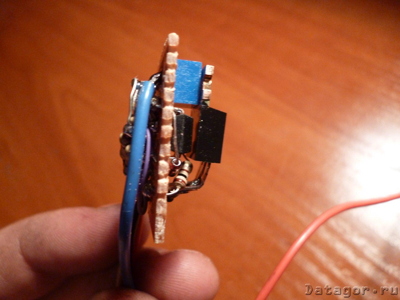 схема простейшего стробоскопа в фары на светодиодах