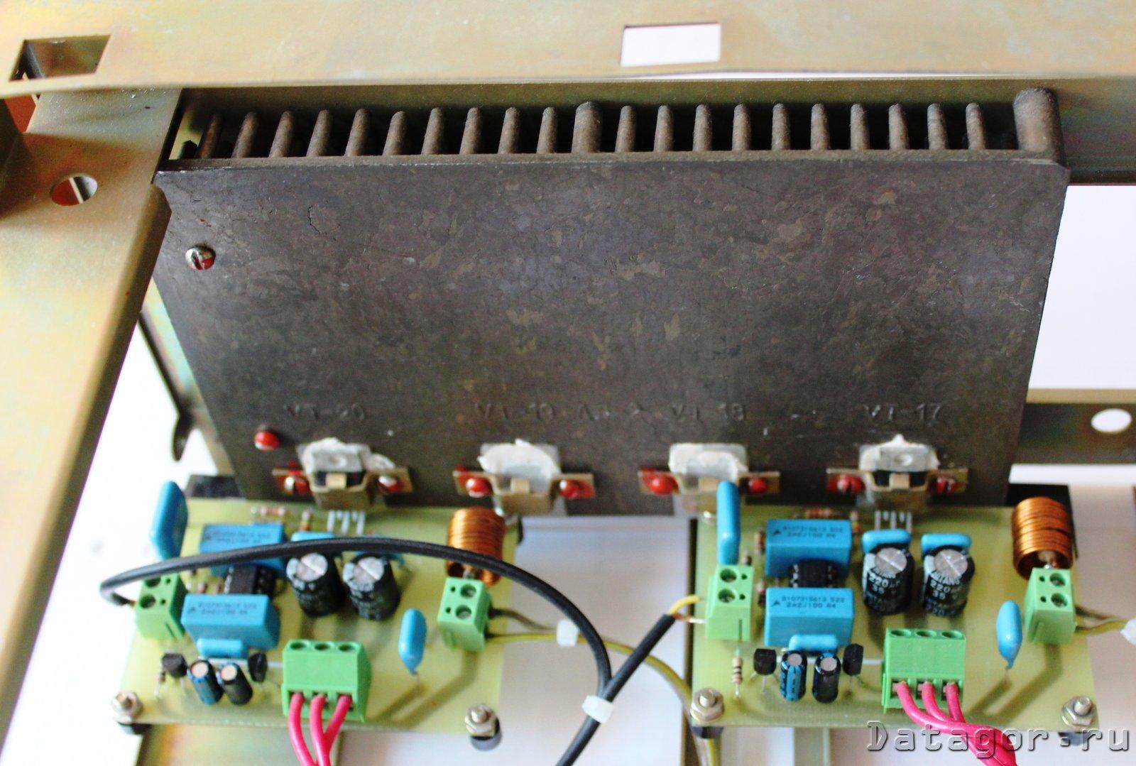 схема усилителя звука громкоговорителя промышленного