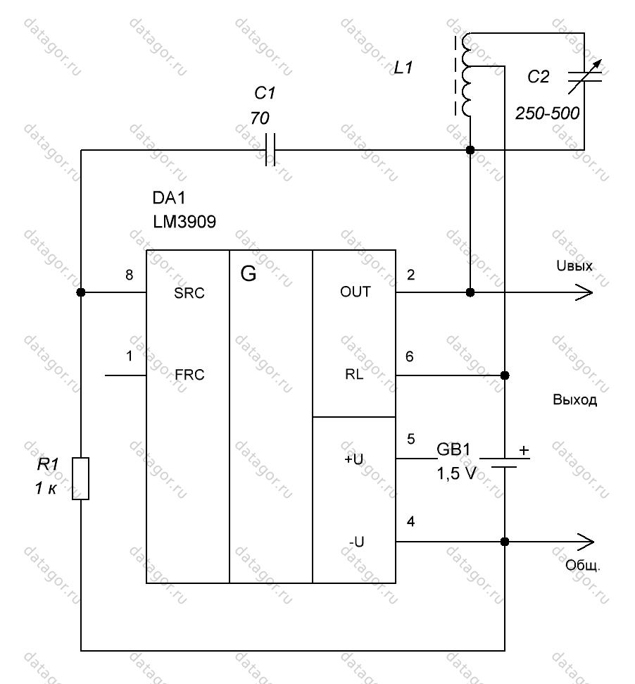 схема генератора 16 кгц на транзисторе