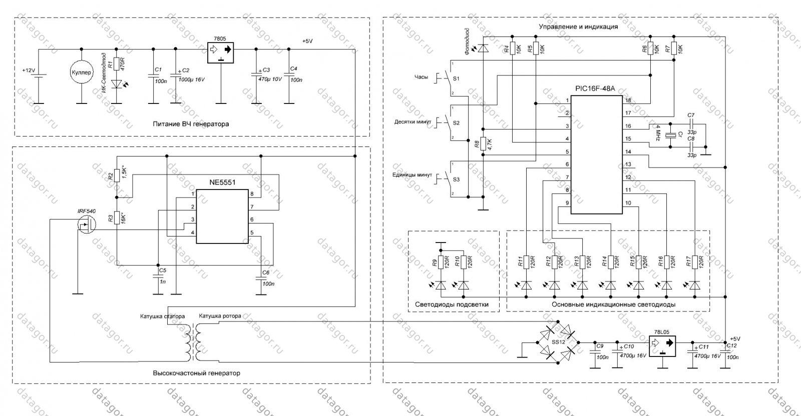 tl494 схема синхронизации