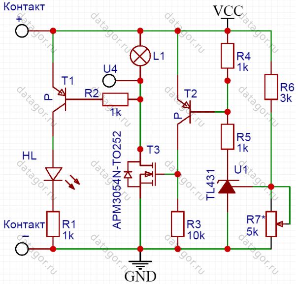 Блок разрядки Li-ion аккумуляторов для длительного хранения